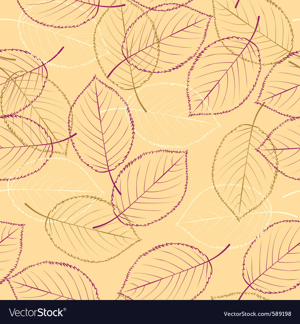 Seamless leaves vector | Price: 1 Credit (USD $1)