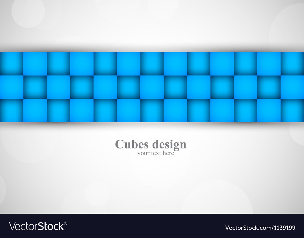 Background with blue squares vector | Price: 1 Credit (USD $1)