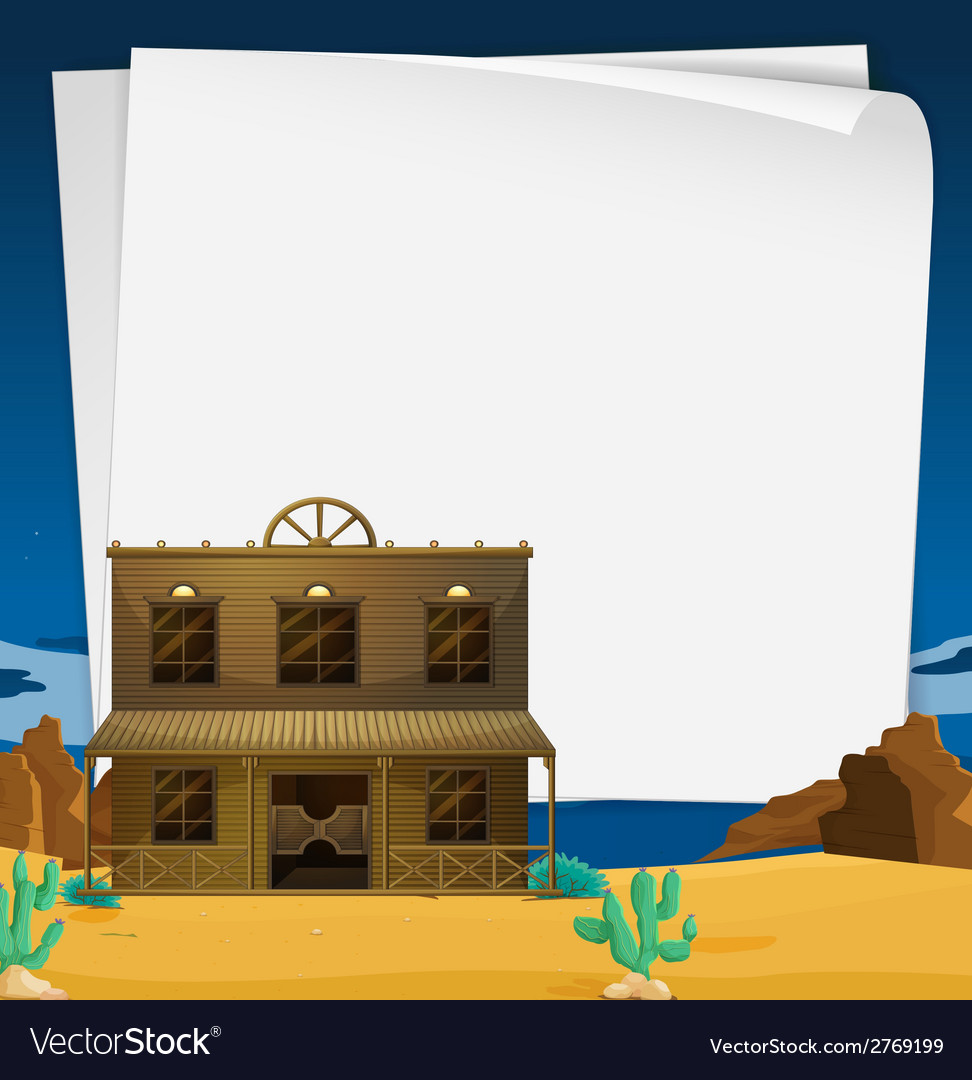 Banner with western view vector | Price: 1 Credit (USD $1)