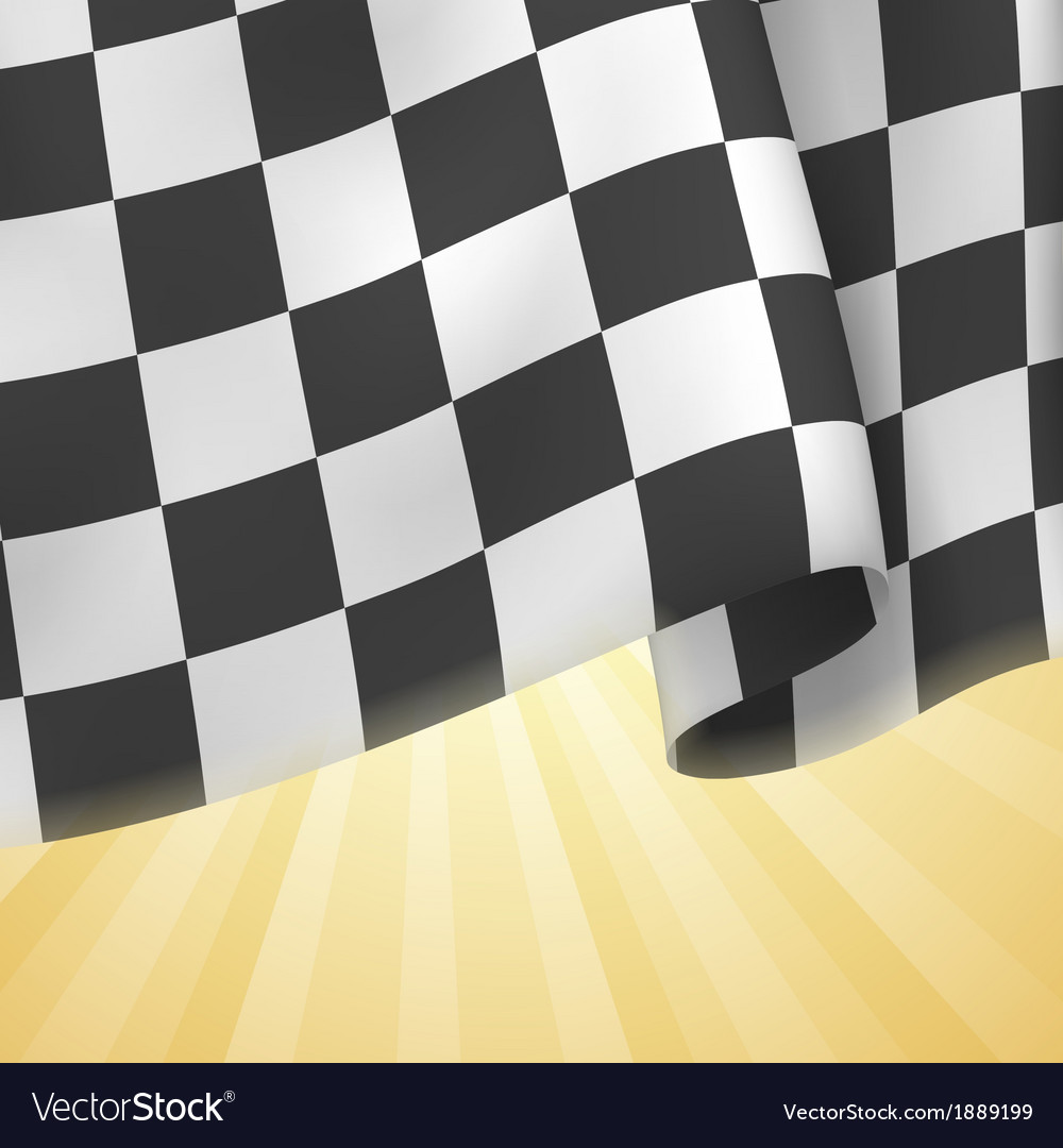 Checkered flag background card template vector | Price: 1 Credit (USD $1)