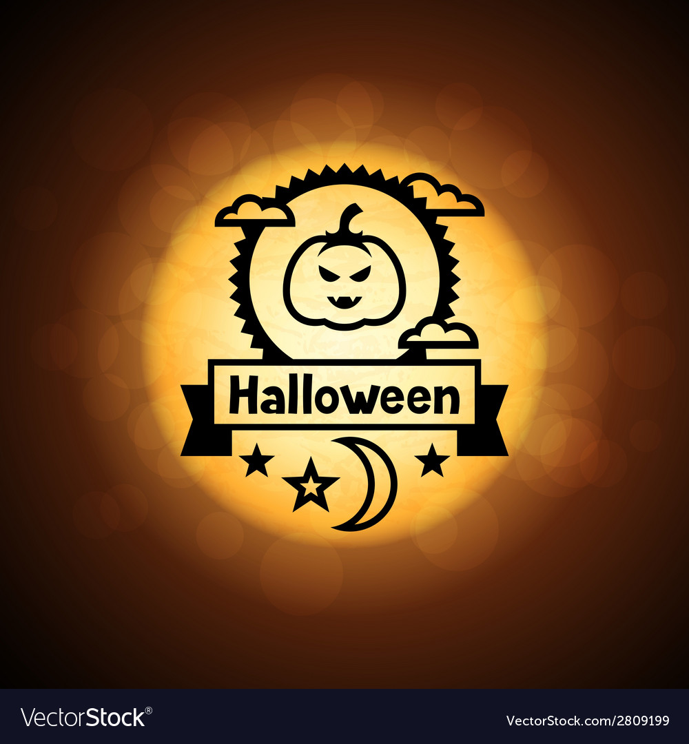 Happy halloween greeting card on background of vector | Price: 1 Credit (USD $1)