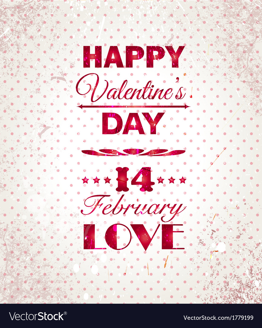 Happy valentines day background i love you vector | Price: 1 Credit (USD $1)