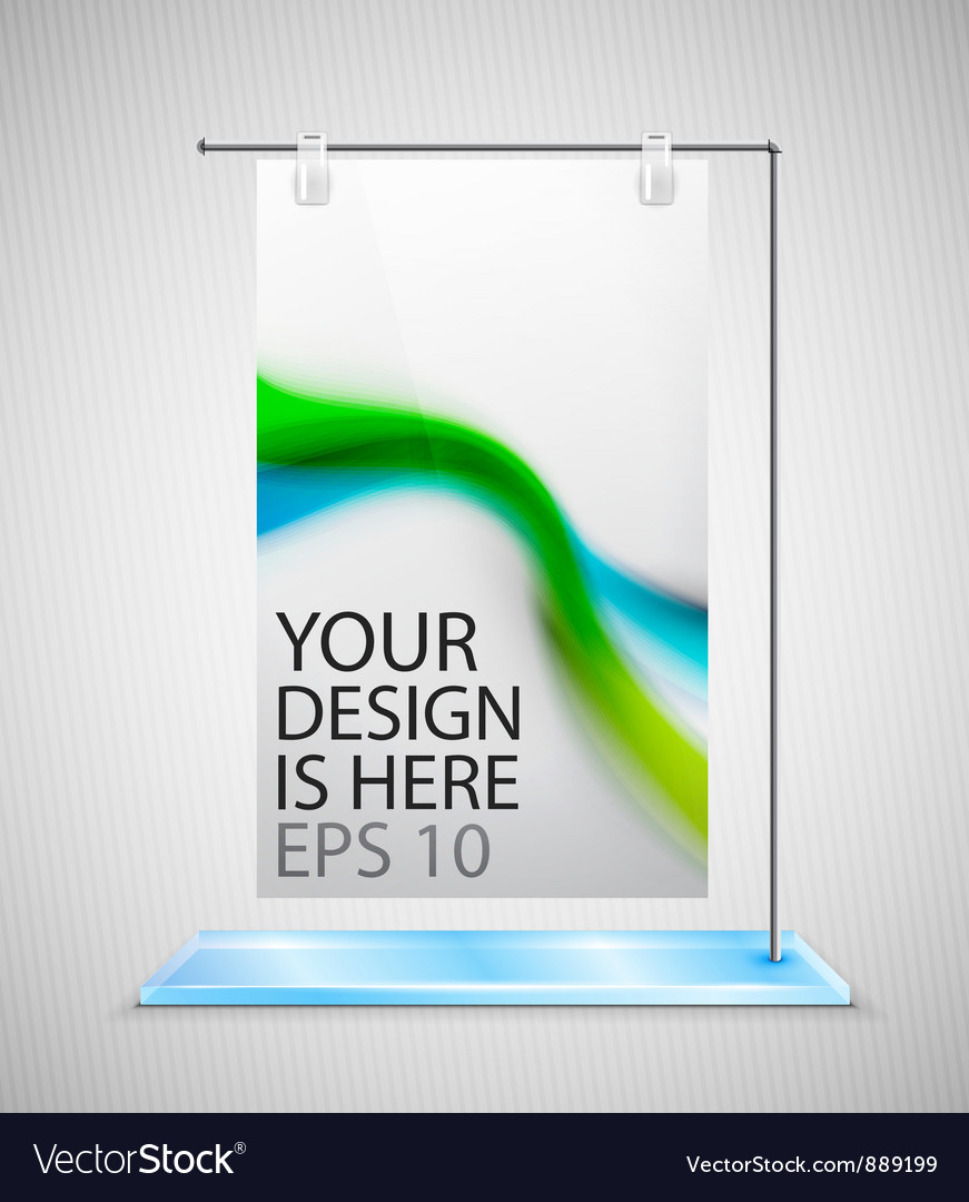 Poster stand banner vector | Price: 1 Credit (USD $1)