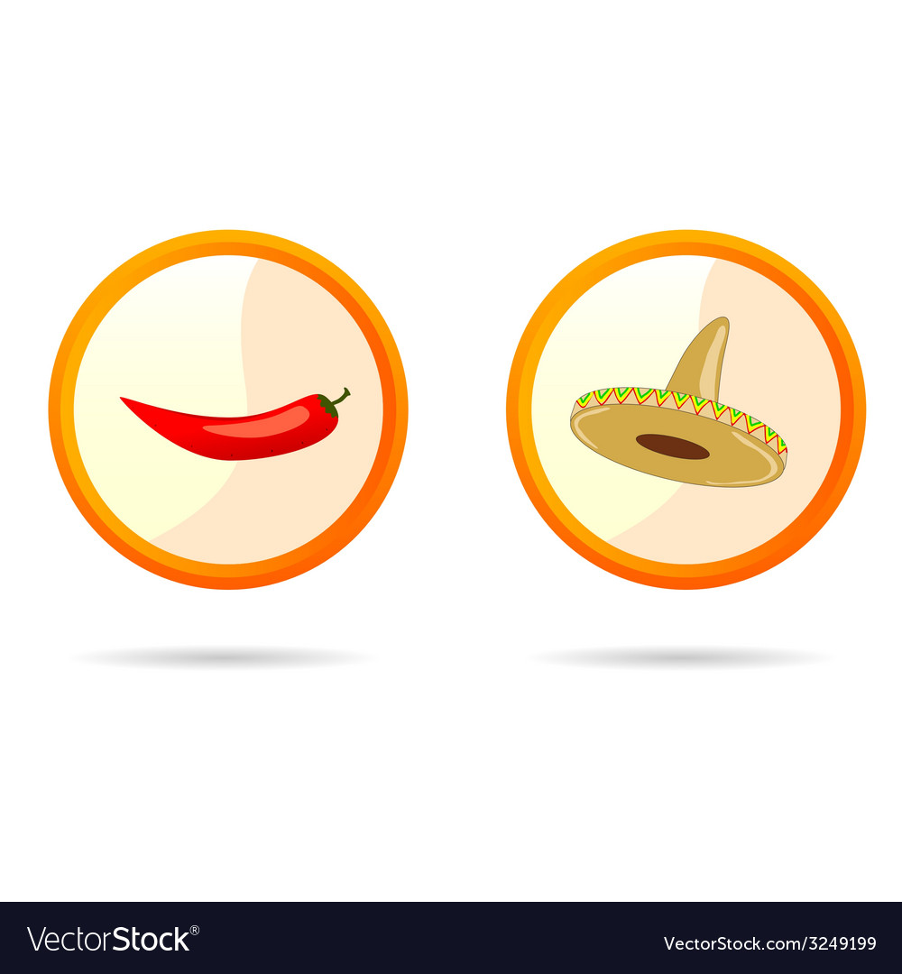 Red chili peppers and sombrero vector | Price: 1 Credit (USD $1)