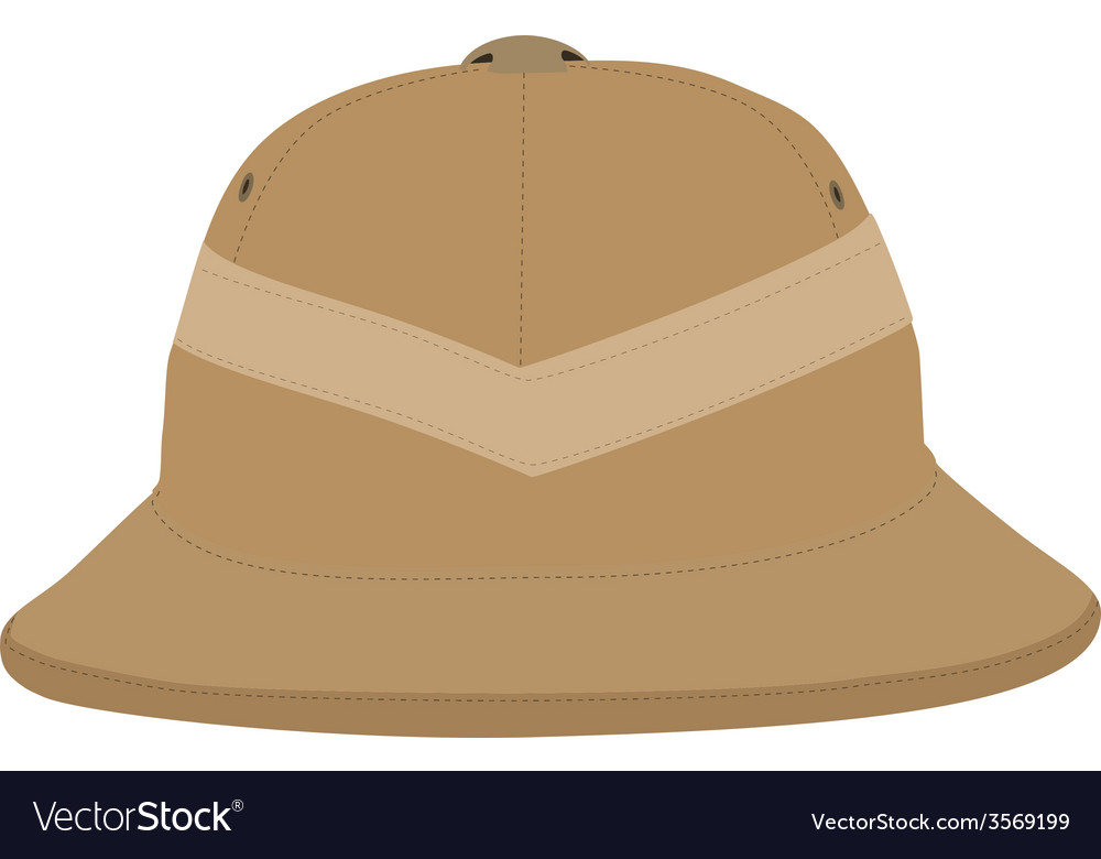 Safari hat vector | Price: 1 Credit (USD $1)
