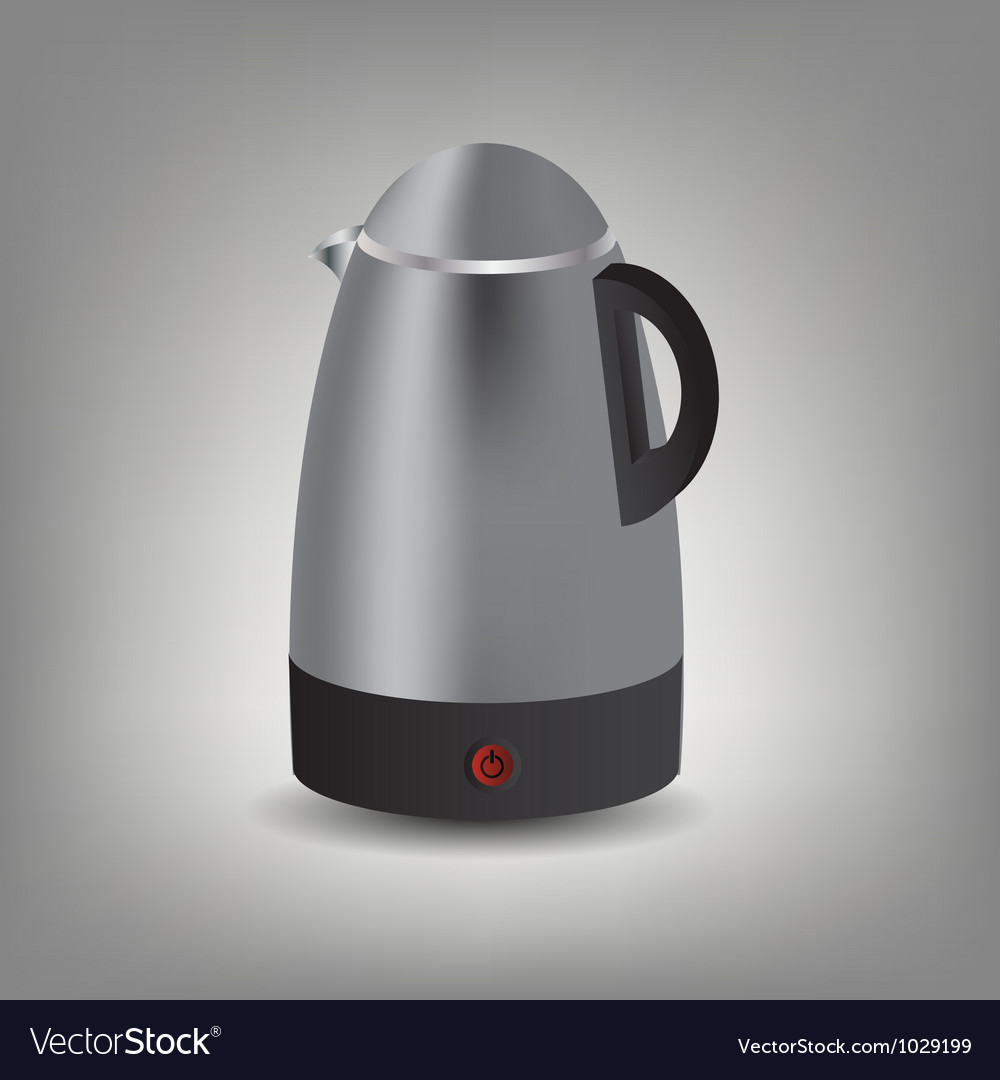 Stainless steel electric kettle icon vector | Price: 1 Credit (USD $1)