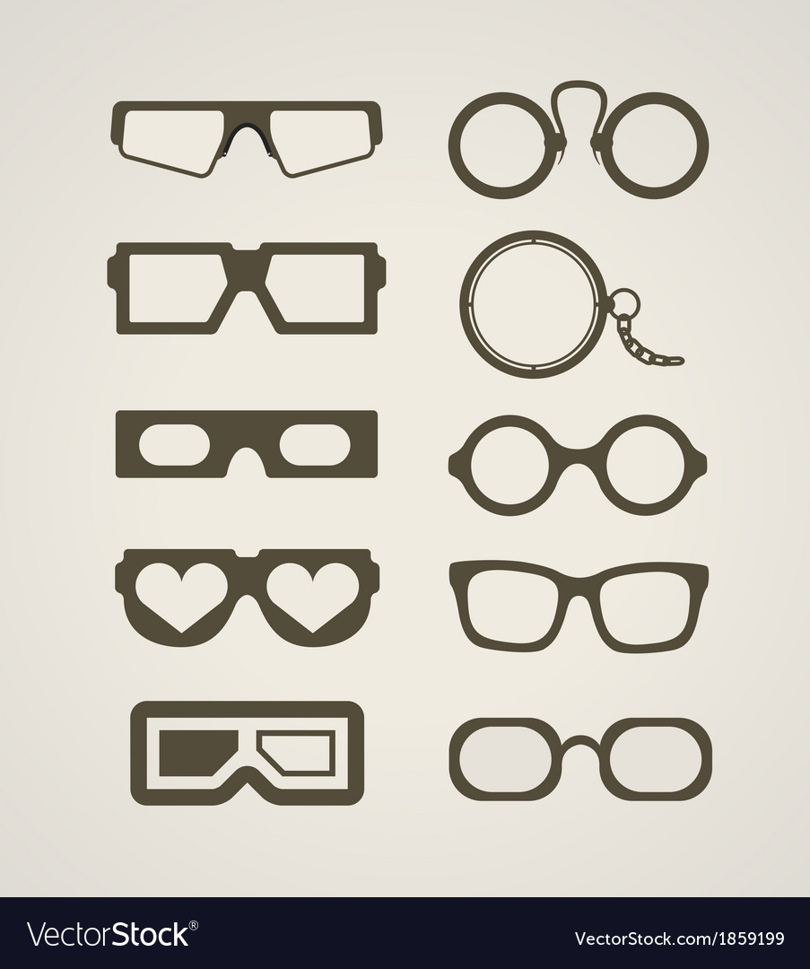 Vintage and modern glasses collection vector | Price: 1 Credit (USD $1)