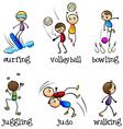 Six different activities vector