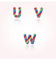 Color alphabet letters vector