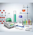 Science lab background vector