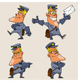 Cartoon character postman in various poses vector