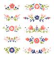Decorative colorful floral compositions set 2 vector