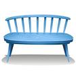 A blue wooden bench vector