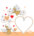 Elves and hearts vector