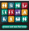 Women and men icons vector