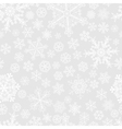 Christmas seamless pattern of snowflakes vector