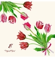 Background with bouquet of tulips2-05 vector