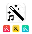 Magic music icon vector