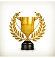 Golden trophy old-style isolated vector
