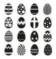 Various black easter eggs design collection eps10 vector