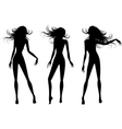 people silhouettes set vector