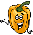 Cute yellow pepper cartoon vector