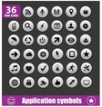 Application symbols big set silver color vector