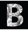 Crystal letter b vector