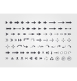 Big set of different arrows isolated on white vector