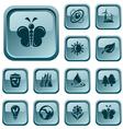 Environment buttons vector