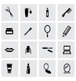 Black cosmetics icon set vector