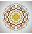 Ornamental round colorful pattern in aztec style vector