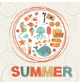 Colorful summer composition vector
