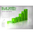 Graph green text vector
