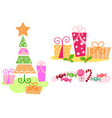 Christmas clip arts vector