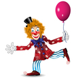 Cheerful clown vector
