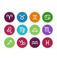 Zodiac circle icons on white background vector