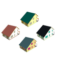 Isometric house style 7 vector