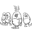 Hot potato saying coloring page vector
