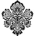 Ornate flower ornament vector