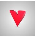 Letter v comic style font eps10 vector