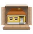 House in carton box vector