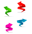 Origami arrow web banners vector