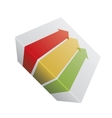 Red yellow and green arrows vector