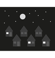 Family houses in the night vector