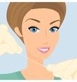 Friendly female dentist demonstrates floss vector