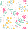 Spring mood repeat floral pattern vector