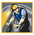 Coal miner drilling vector