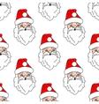 Santa claus seamless pattern background vector