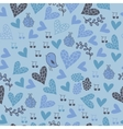 Romantic seamless pattern with birds flowers vector